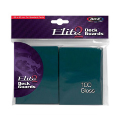 BCW Elite2 Deck Guards- Glossy- Teal (100 ct.)