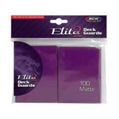 BCW Elite2 Deck Guards- Matte- Mulberry (100 ct.)