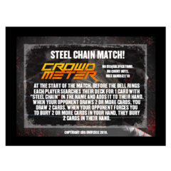 Steel Chain Match Stipulation Crowd Meter