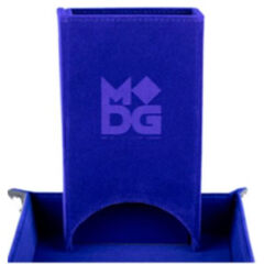 FOLD UP VELVET DICE TOWER: BLUE