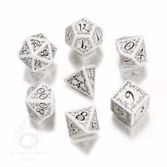 White & Black Elvish 7 Dice Set