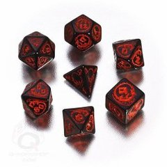Black & Red Dragons 7 Dice Set