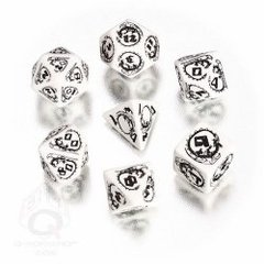 White & Black Dragons 7 Dice Set