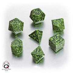Forest Dice Set - Green/Black