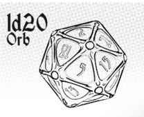 PolyHero - 1d20 Orb - Lapis Lazuli with Glittering Gold