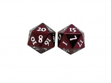 Ultra Pro - Heavy Metal D20 2-Dice Set - Red w/ White Numbers