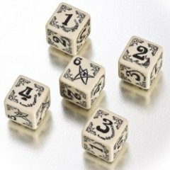 Arkham Horror Dice Set - Beige/Black