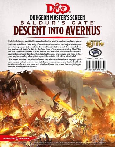 Baldurs Gate: Deescent into Avernus DM Screen