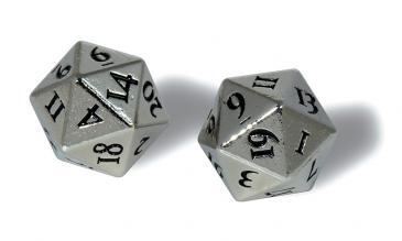 Ultra Pro - Heavy Metal Dice D20: Set Of 2 - Chrome
