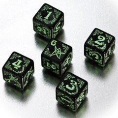 Arkham Horror Dice Set - Black/Green