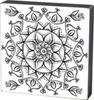 Mandala 2 Color Box Sign