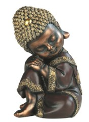 Brown Buddha Head on Knee