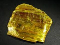 Orpiment Crystal Sheets Russia