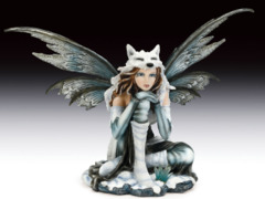 Fairy with Snow Wolf