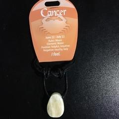 Cancer Zodiac Stone Pendant
