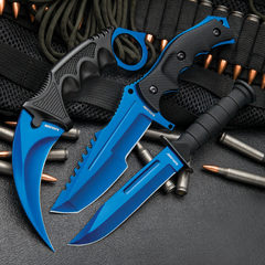 Blue Tanto Fixed Blade