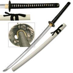 Ten Ryu Pearl White Sheeth Katana LU014W