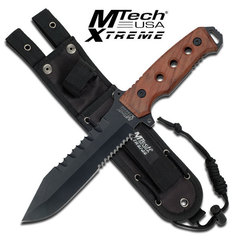 Mtech Fixed Blade Wood Handle