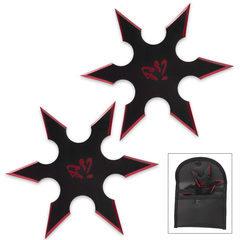 Double Red Ninja Throwing Star