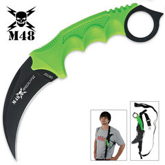 Green Karambit with Shoulder Harness