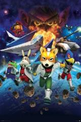 Large Framed Art Star Fox