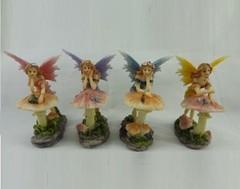 Leaning Fairy on Mushroom 92008