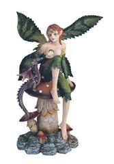 Green Fairy on Mushroom 91298