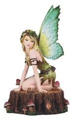Earth Fairy on Tree Trunk 91964