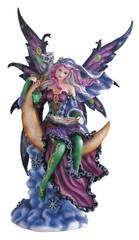 Purple Fairy on Moon