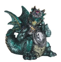 Green Dragon with Gem