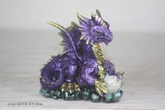 Purple Mother Dragon with Egg