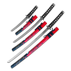Red Ying Yang 3 Sword Set SW-86RD-4