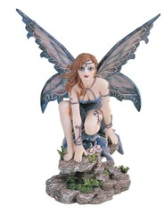 Blue Fairy with Butterfly Wings 91375