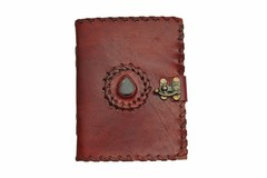 Stone Leather Journal with Lock 242560