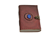 Blue Onyx Leather Journal with Lock 242585