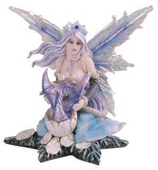 Blue Fairy with Baby Dragon 91379