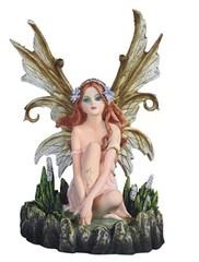 Green Beige Sitting Fairy 91849