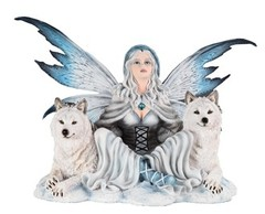 Fairy with Two Wolves 91896