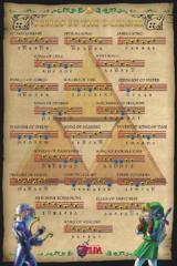 Large Framed Art Zelda Songs of the Ocarina