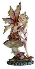 Brown Fairy on Mushroom 91691