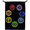 Velvet Bag Embroidered 7 Chakras Pouch