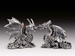 Silver Steampunk Dragon