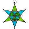 Green and Turquoise Star Lantern