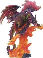 3 Headed Red Glitter Dragon