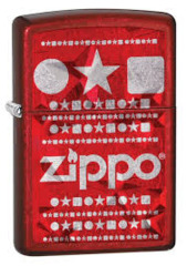Red Engraved Zippo