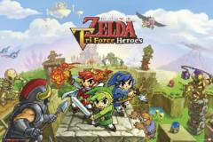 Large Framed Art Zelda Triforce Heroes