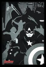 Large Framed Art Black and White Avenger