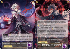 Conqueror of the Black Moon, Gill Lapis // Gill Lapis, the Primogenitor [TMS-072 UR (Uber Rare Foil Ruler)] English
