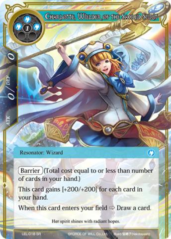 Charlotte, Wielder of the Sacred Spirit [LEL-018 SR (Textured Foil)] English