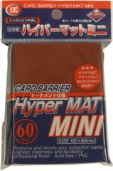 KMC Card Barrier Hyper Mat (60ct) Small Sleeves - Red